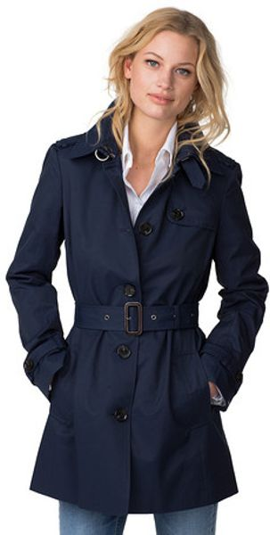 tommy hilfiger heritage trench coat in blue core navy lyst. Black Bedroom Furniture Sets. Home Design Ideas