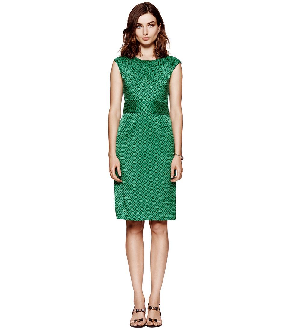 Lyst Tory Burch Marlow Dress In Green