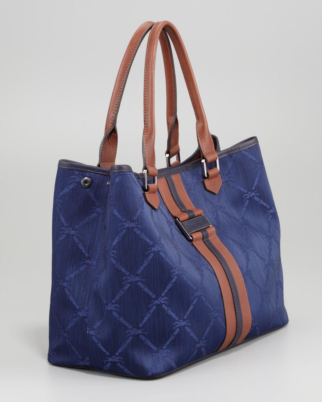 Longchamp Jacquard Tote Bag