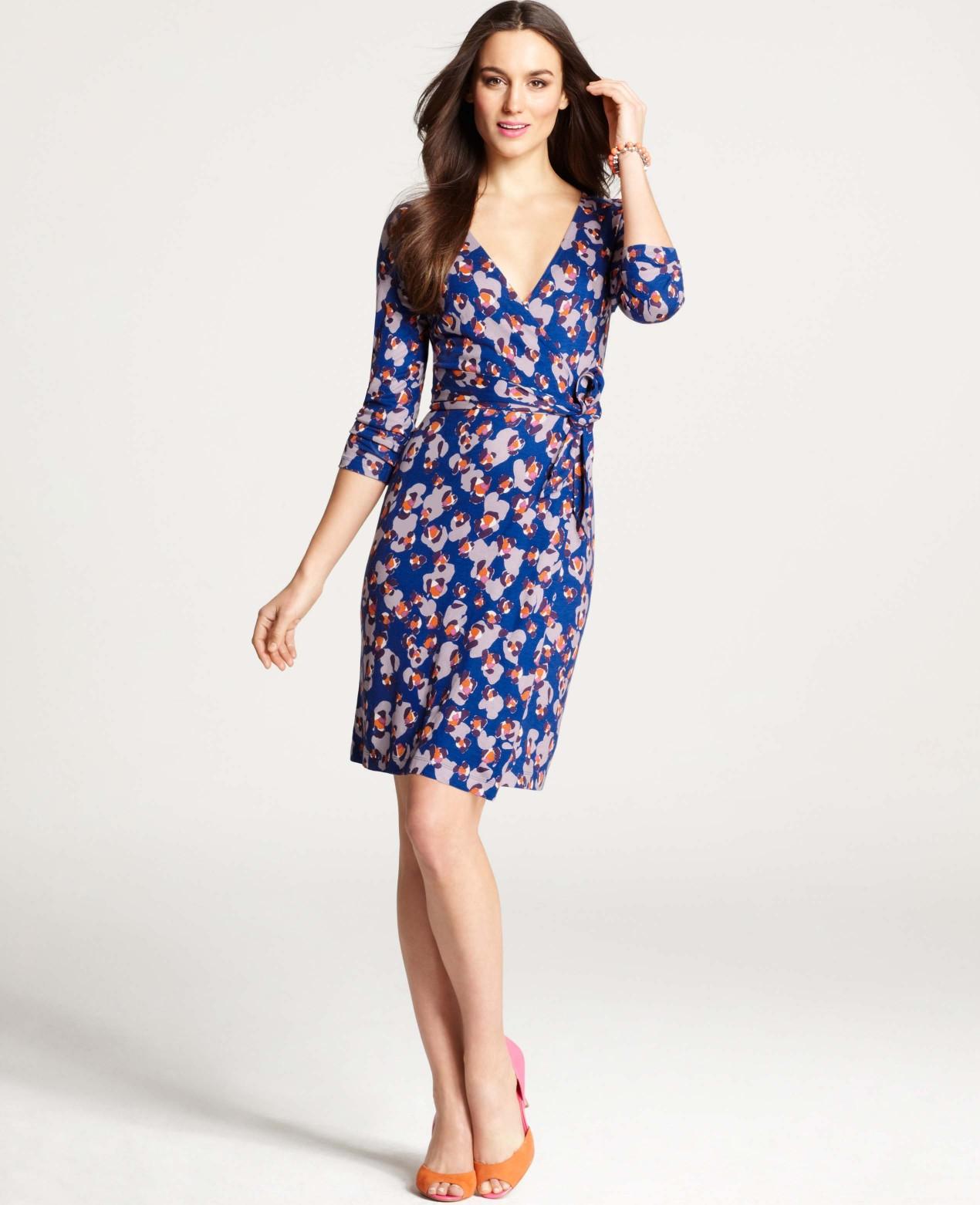 Ann taylor color splash wrap dress