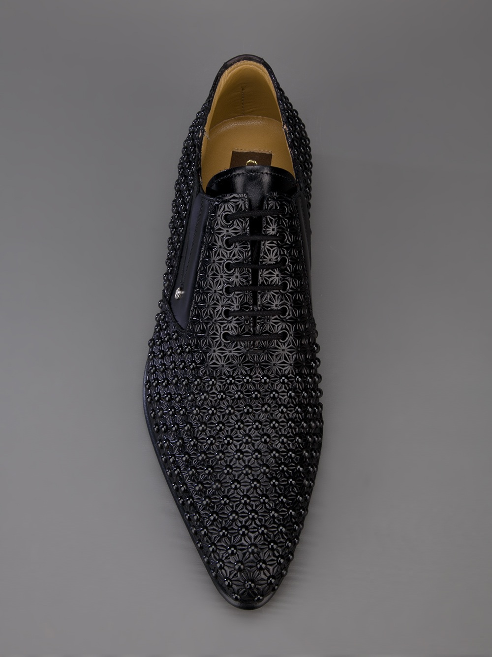 Lyst Cesare Paciotti Studded Lace Up Shoe In Black For Men