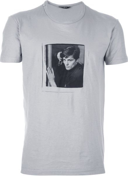 Dolce & Gabbana Photo Print T-shirt in Gray for Men (grey) - Lyst