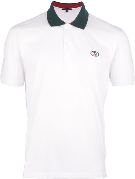 4603f21e Gucci Short-sleeved Polo Shirt in White for Men | Lyst@Share on ...