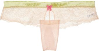 Mimi Holliday By Damaris Lace and Silk Satin Briefs - Lyst