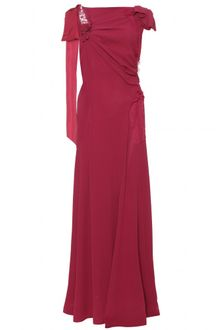 Nina Ricci Floorlength Draped Evening Gown - Lyst