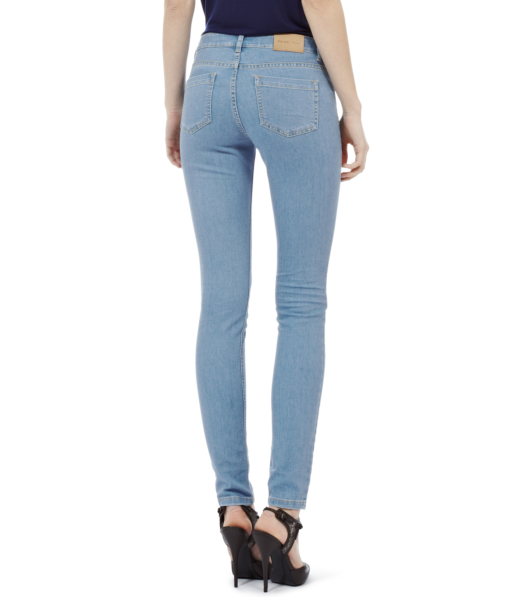 Reiss Smith Denim Skinny Jeans in Blue | Lyst