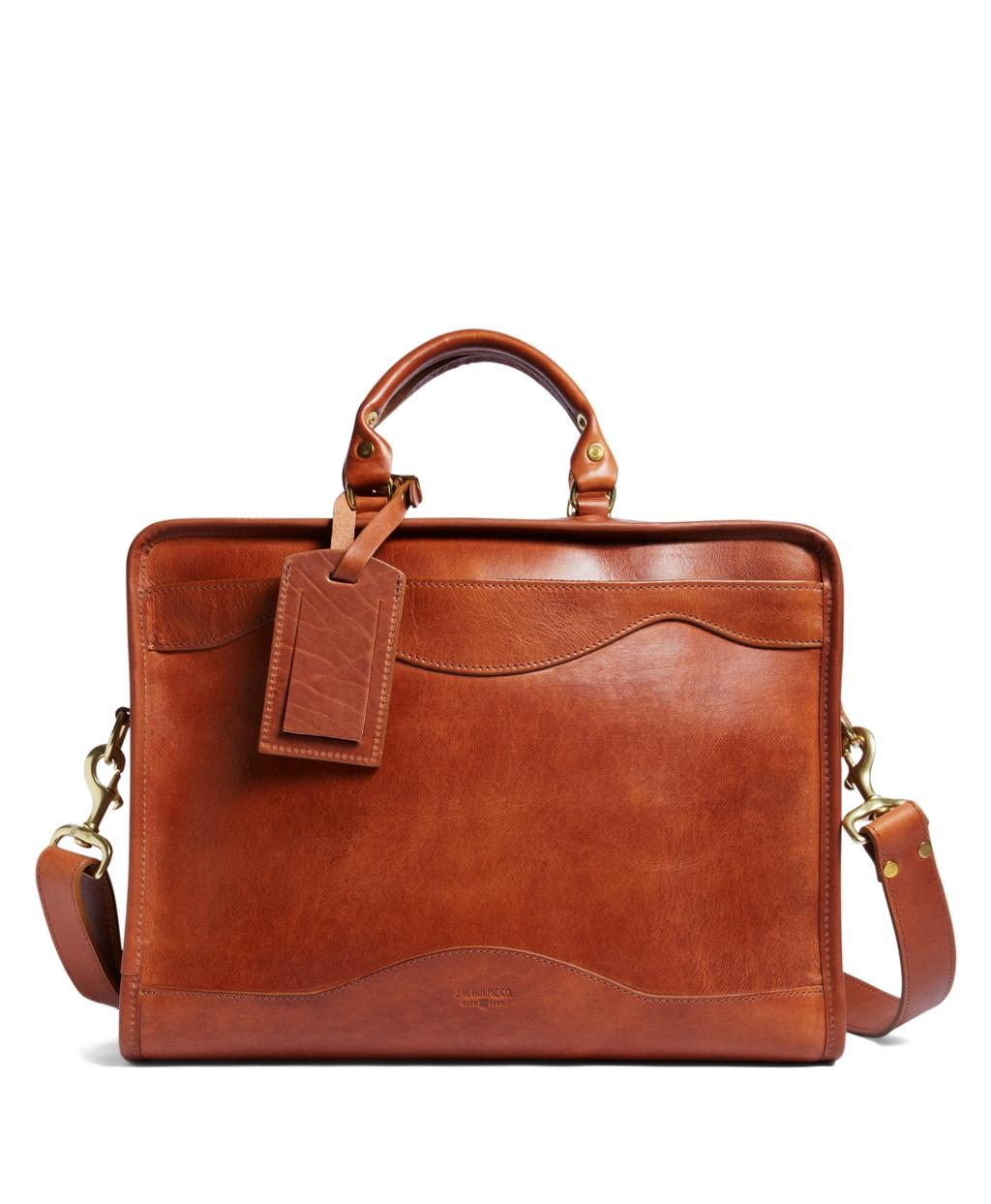 Brooks Brothers J.W. Hulme Leather Slim Portfolio ...