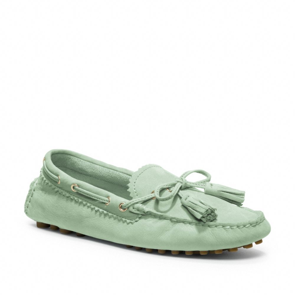 Coach Driving Moccasins In Green Lyst