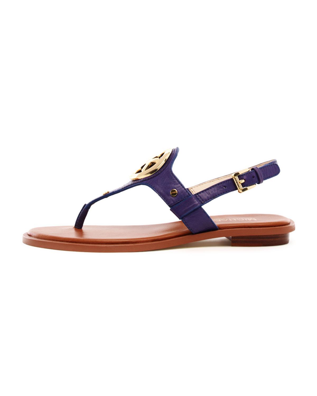 a66b4ebb0f9 Lyst - Michael Kors Aubrey Logo Thong Sandal in Blue