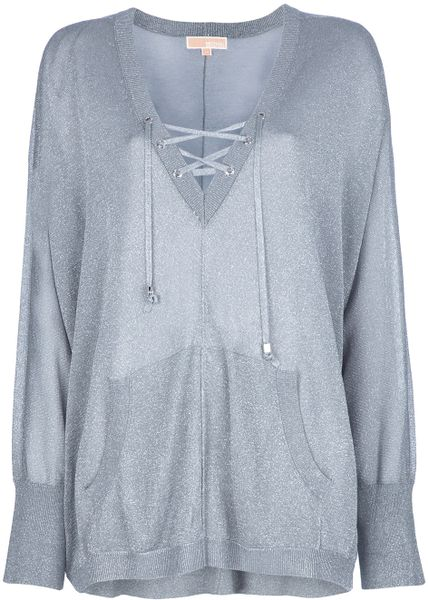 Michael Kors Slouchy Sweater in Gray (silver)