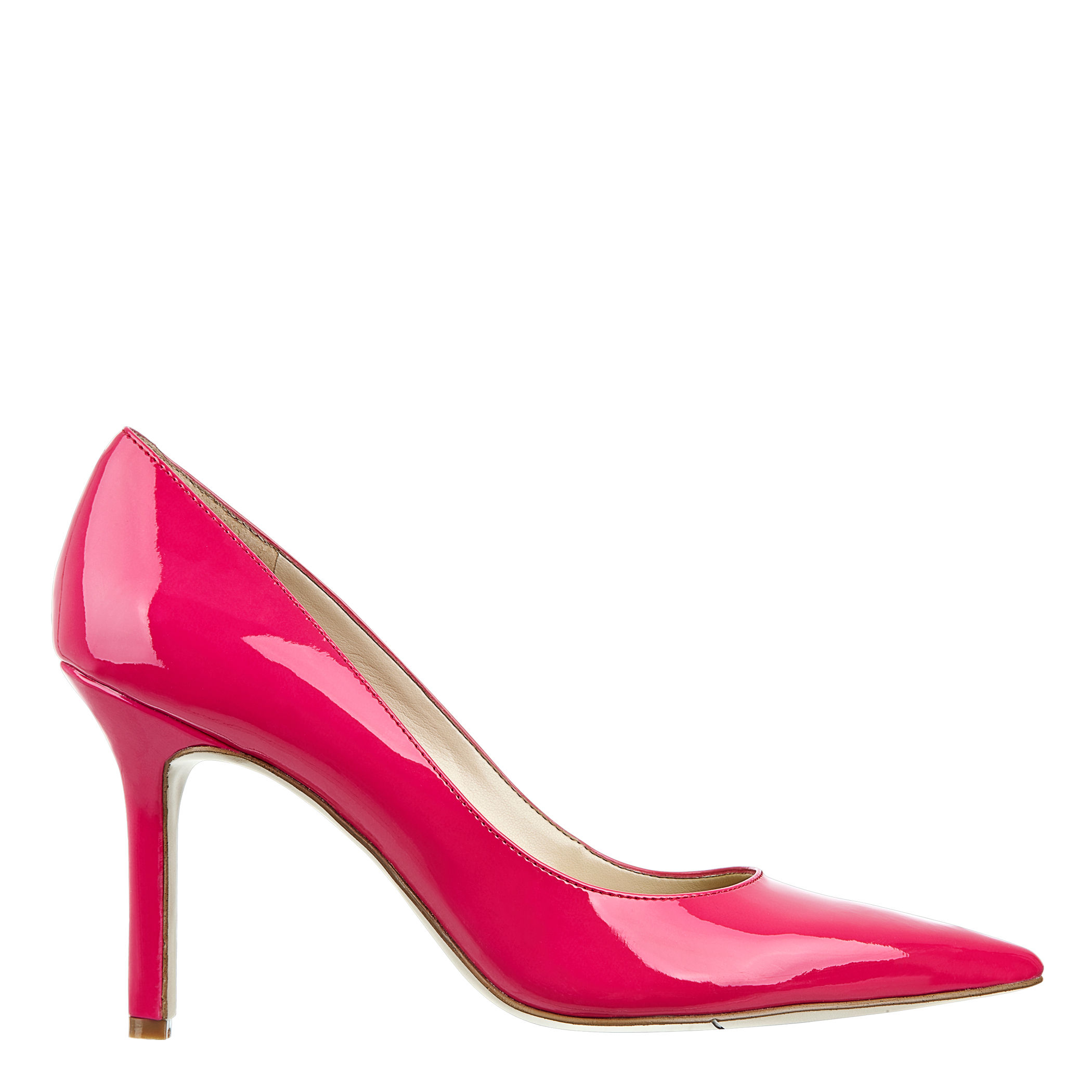 nine west martina pointy toe in pink neon pink