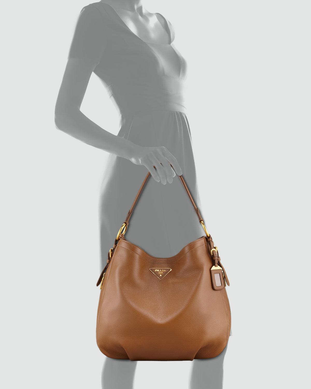 hot prada taupe leather bag 31381 29625  czech prada cervo hobo bag in gray  lyst a982c f3804 6049000b08ddd