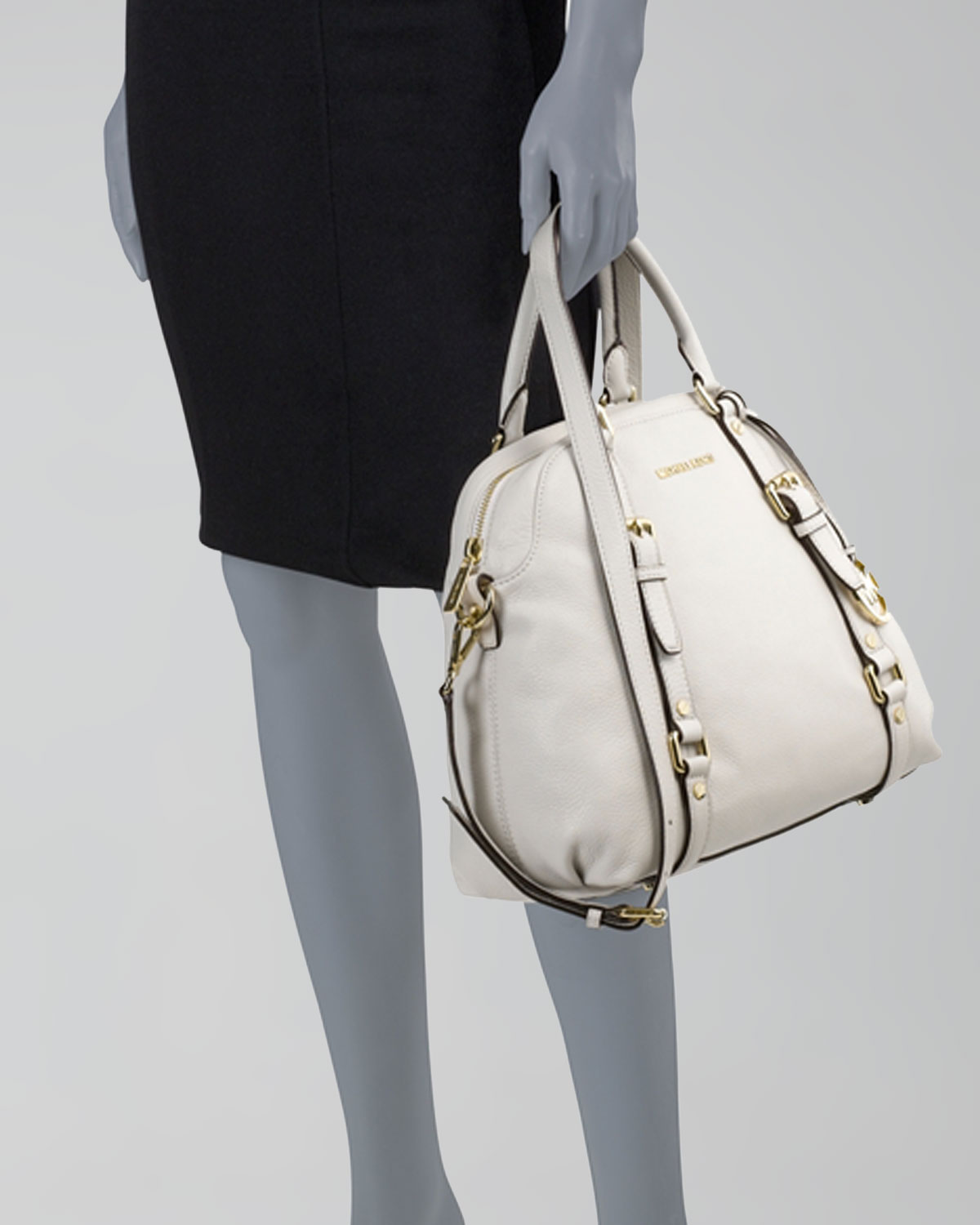 0d4ead6eb186 ... promo code for lyst michael michael kors large bedford bowling satchel  in white 70541 10810