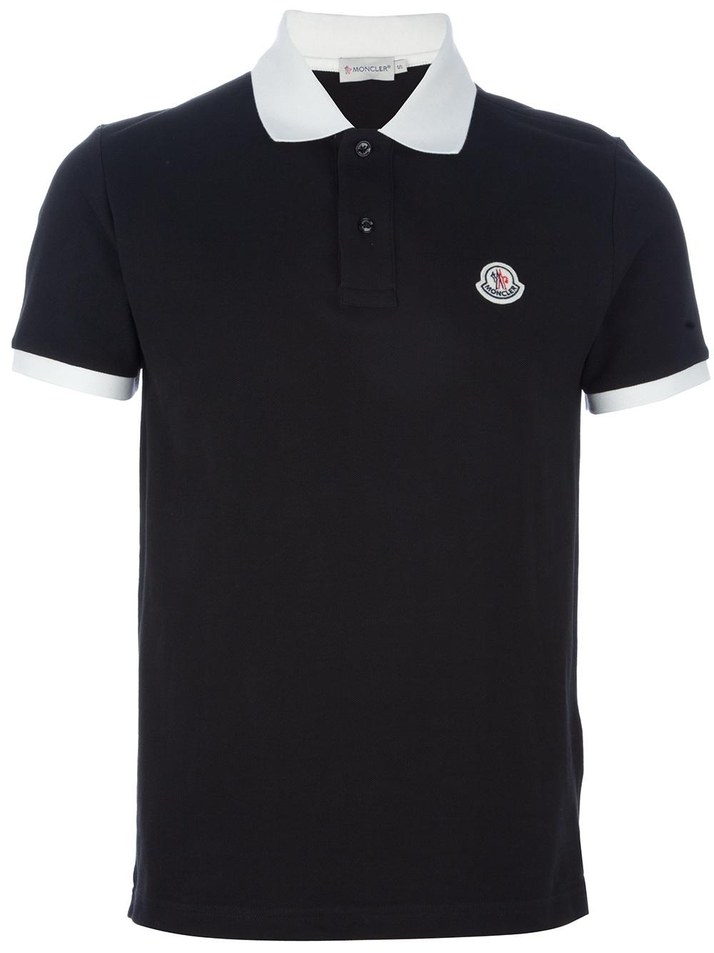 Lyst Moncler Polo Shirt In Black For Men