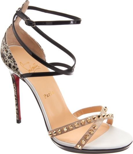 Christian Louboutin Strappy Sandals In Multicolor