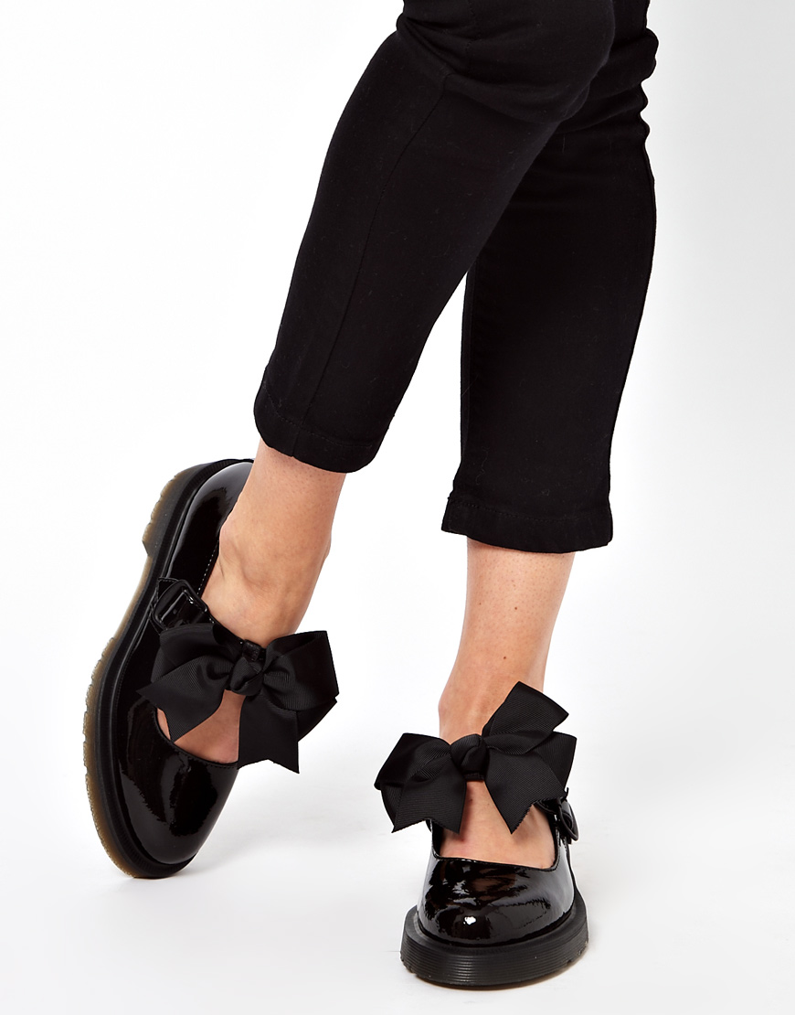 Dr Martens Mariel Bow Mary Jane Shoes In Black Lyst