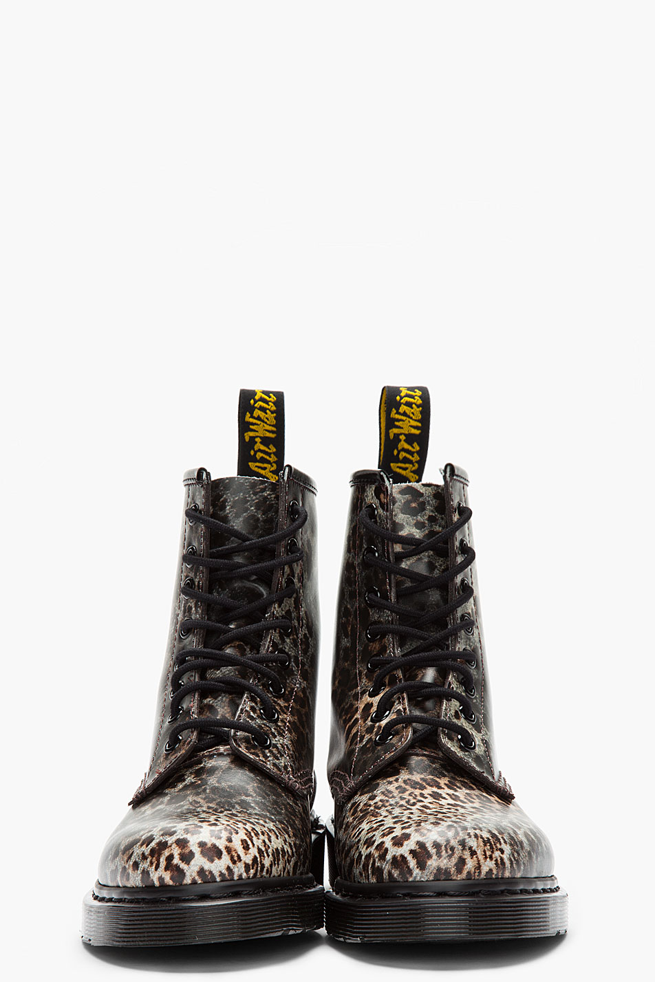 Lyst Dr Martens Leopard Print Leather Boots