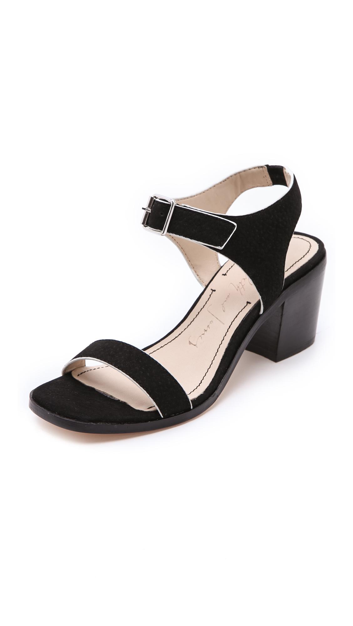 Unique Womens Black Low Heel Ghillie Sandals  Peacocks