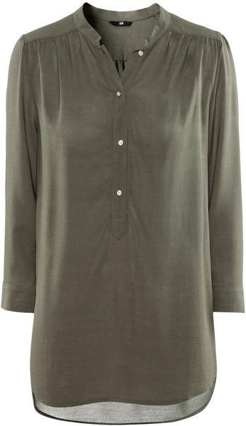 H&m Blouse in Gray (khaki)