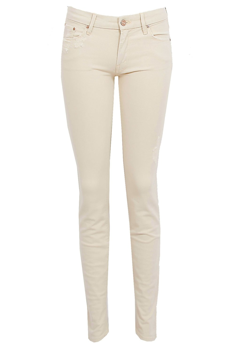 Mother The Looker Skinny Jeans in Natural | Lyst