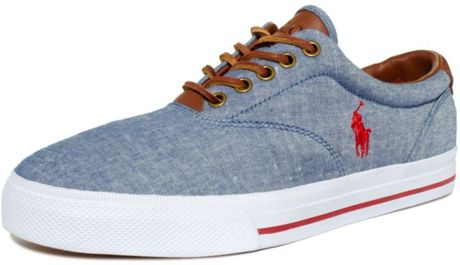 Ralph Lauren Vaughn Lace Sneaker in  for Men