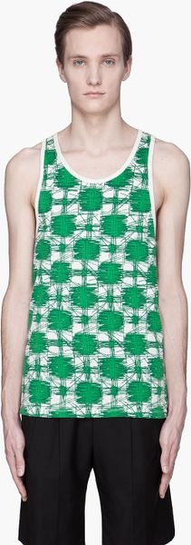 Marc By Marc Jacobs Green Multicolor Sam Cheetah Tank Top in Green for Men - Lyst
