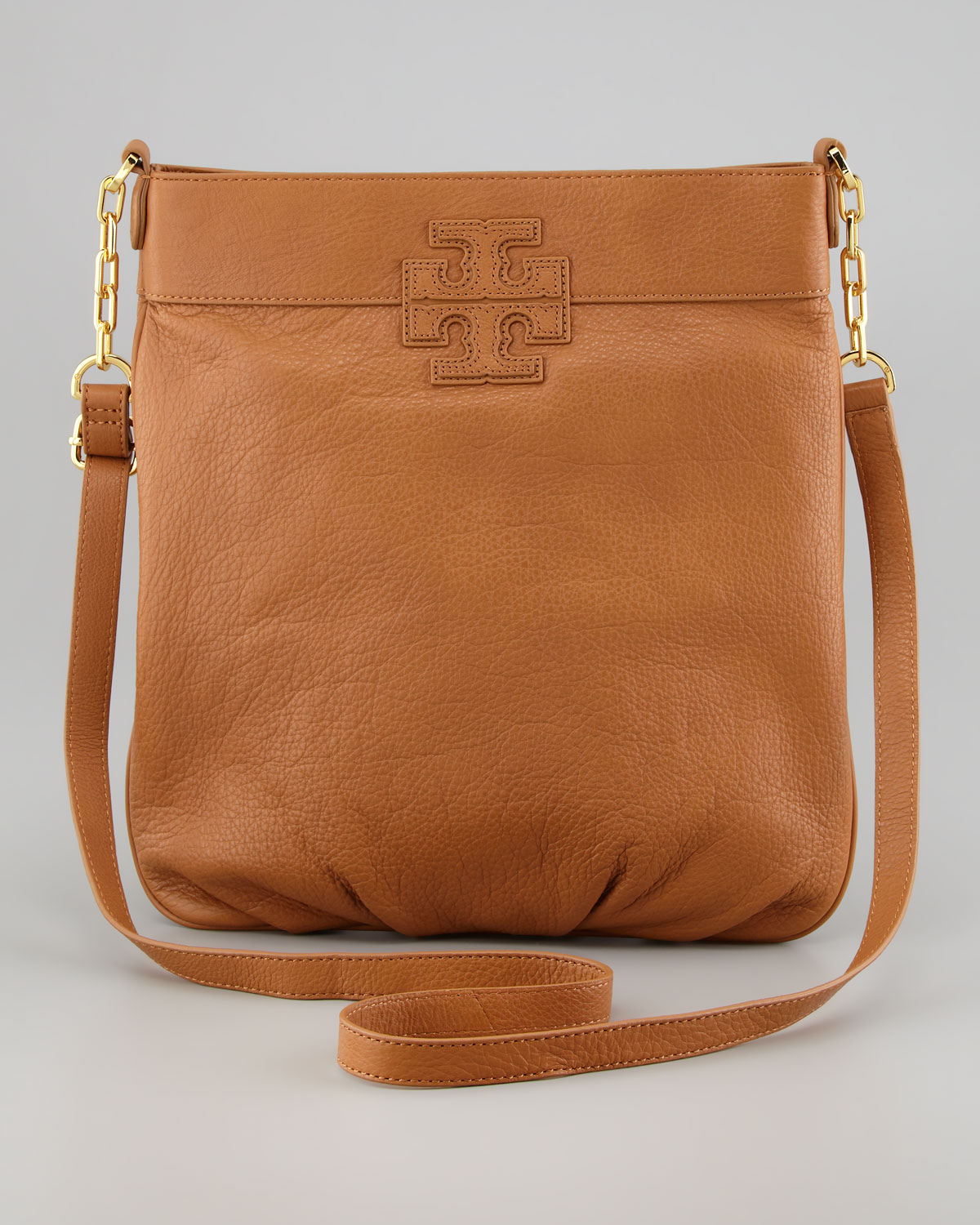 Tory burch Cross Body Book Bag in Brown | Lyst
