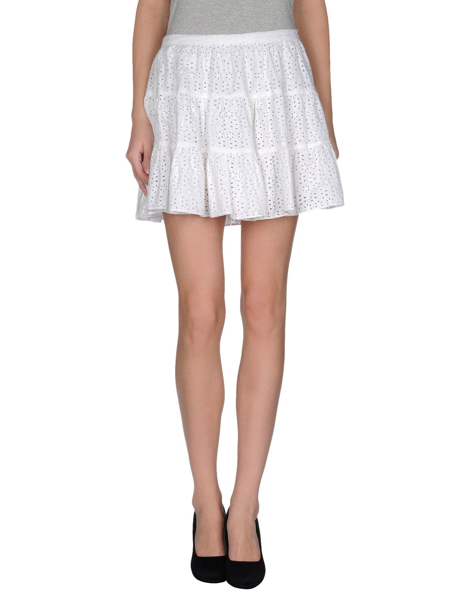 joseph mini skirt in white lyst