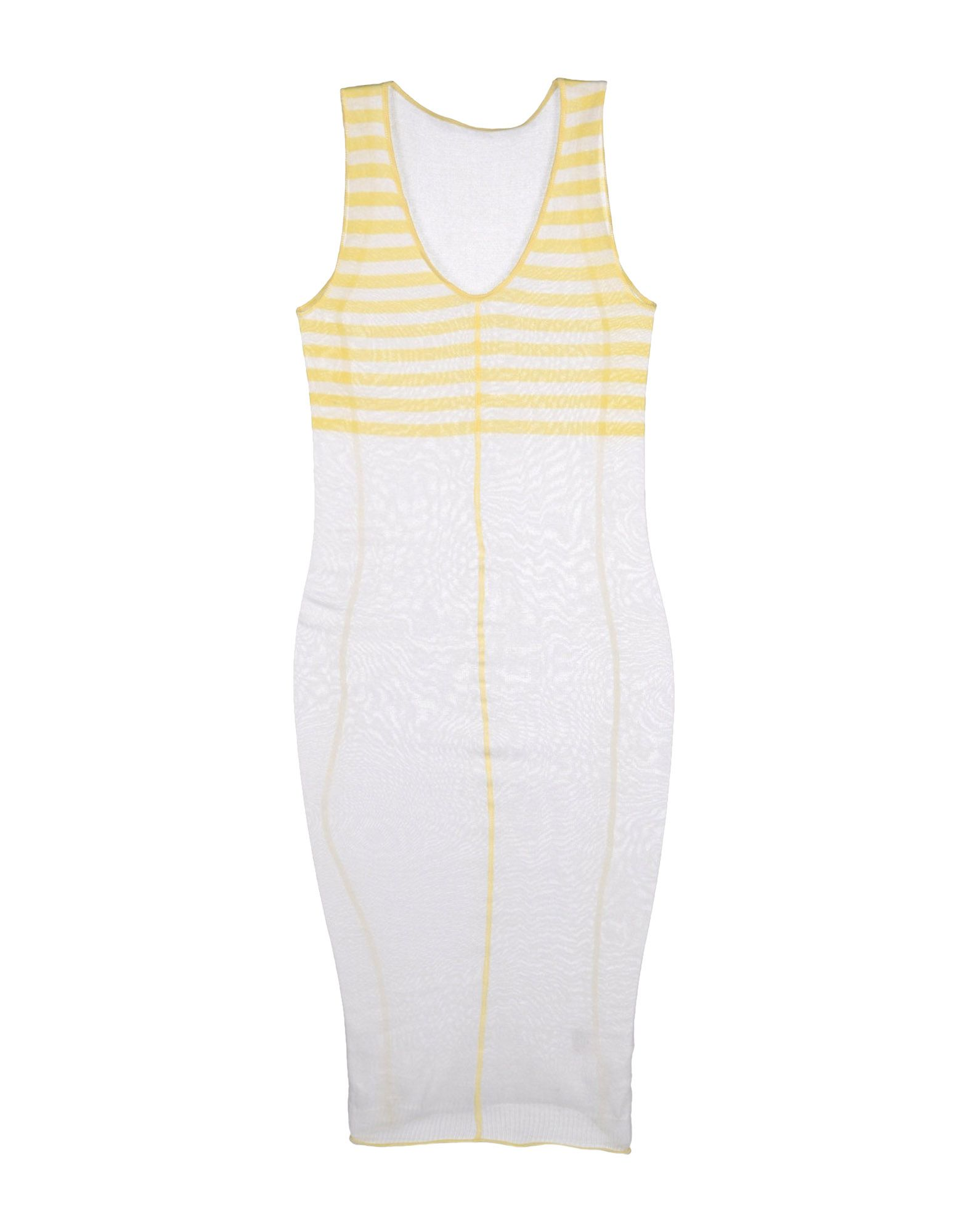 Knit knit 3/4 Length Dress in White Lyst