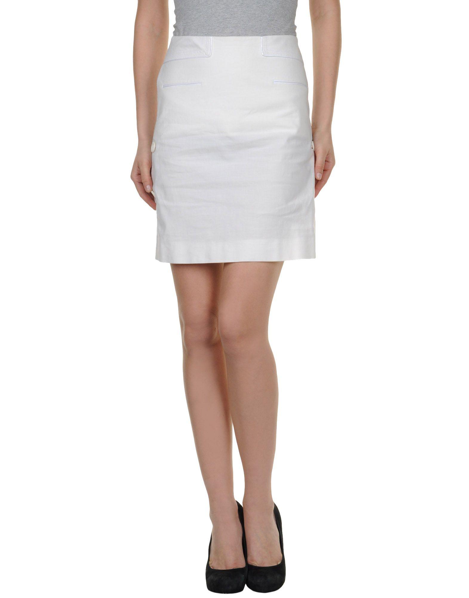 m missoni knee length skirt in white lyst