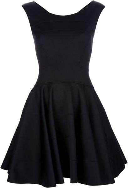 Versace Skater Dress in Black