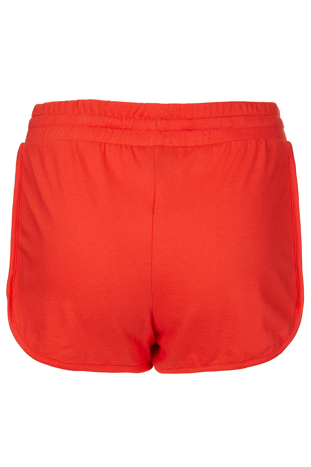 Topshop Red Side Panel Runner Shorts in Red | Lyst
