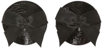 Bordelle Silk Bow and Leather Nipplets - Lyst