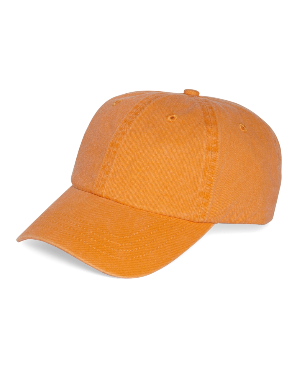 brothers faded cotton baseball cap in orange for