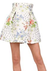 Caterina Gatta Printed Crepe De Chine Skirt