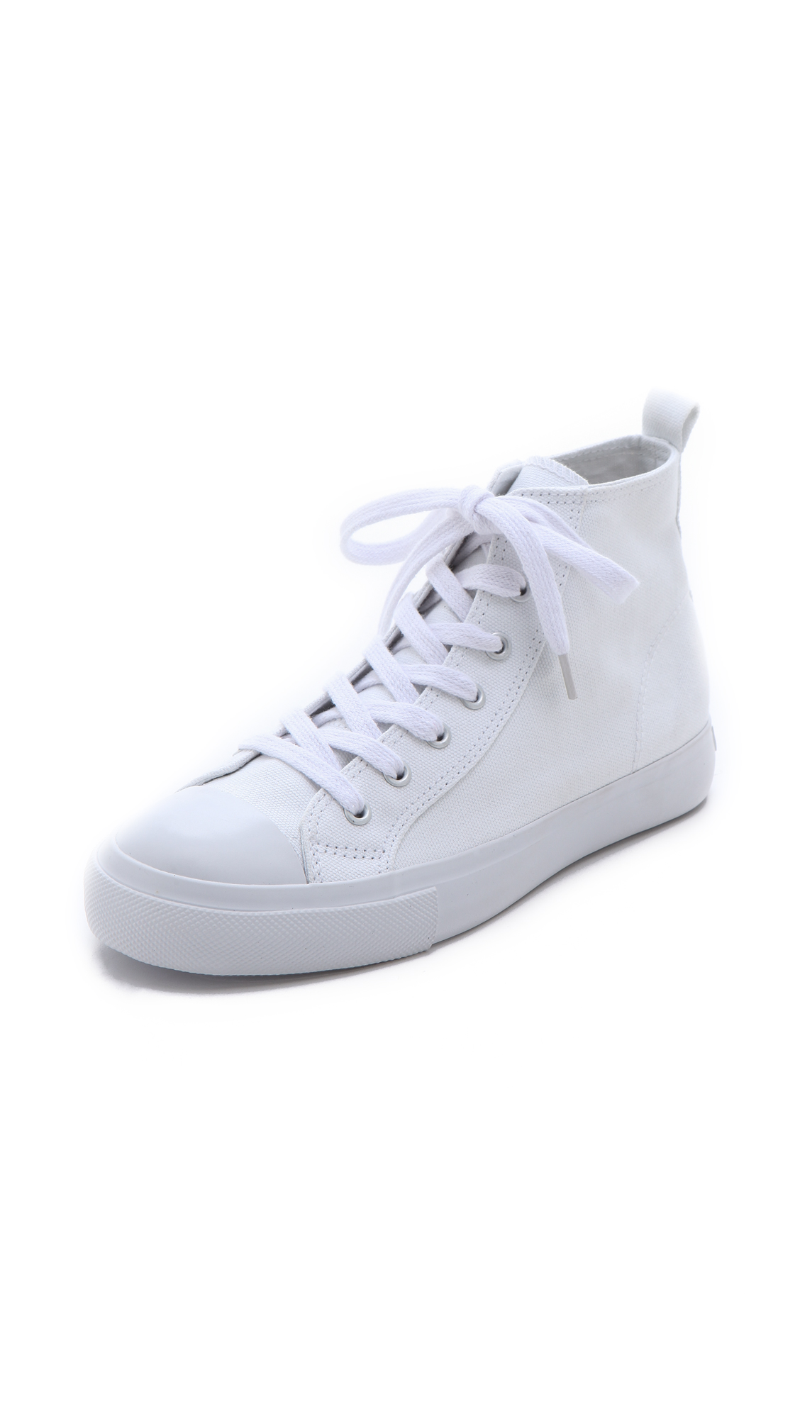 cheap monday base high top sneakers in white lyst