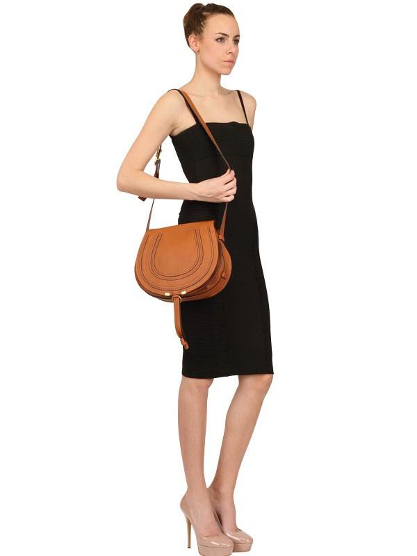 Chlo�� Leather Cross Body Bag in Brown (tan) | Lyst