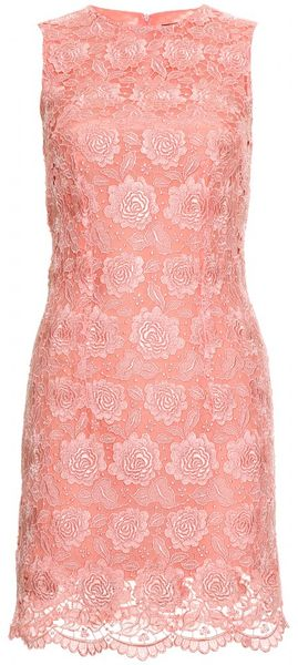 Christopher Kane Lace Overlay Dress in Pink (rose)