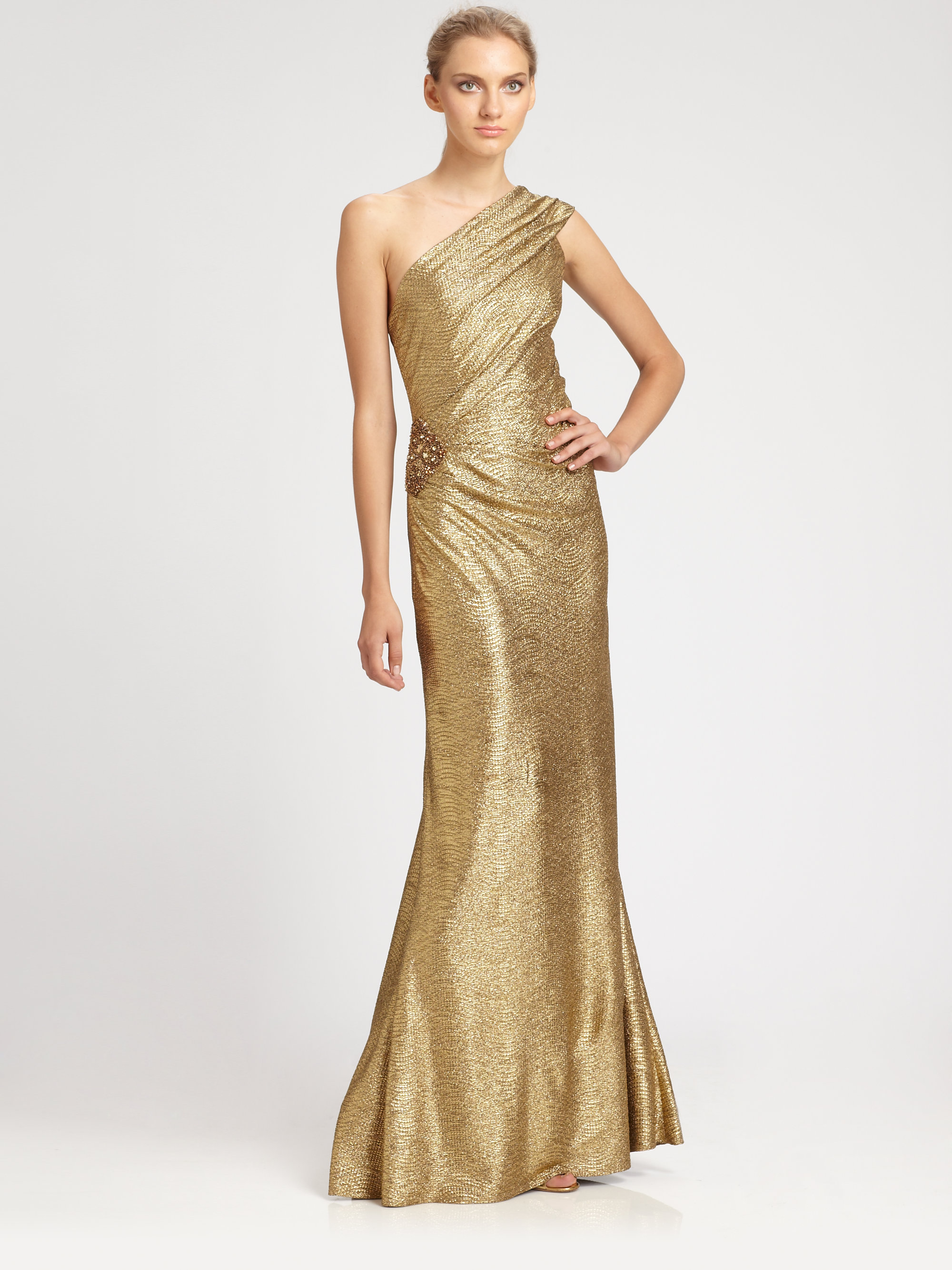 Amazing David Meister Gold Gown Image Collection - Top Wedding Gowns ...