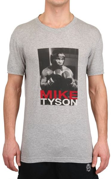Dolce & Gabbana Mike Tyson Cotton Jersey T-Shirt in Gray for Men (grey melange)