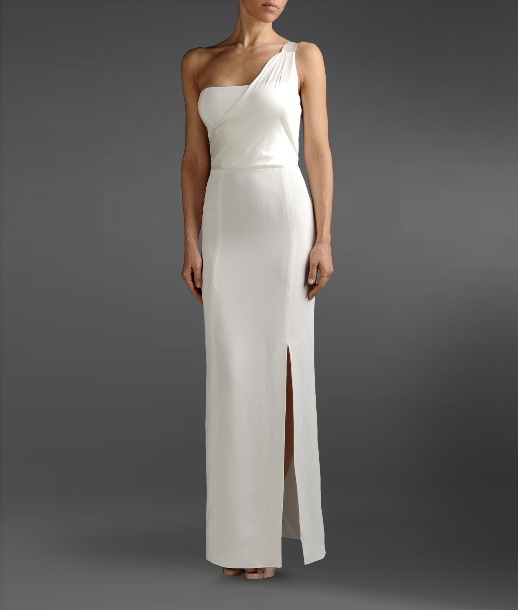 Emporio armani Long Dress in White | Lyst