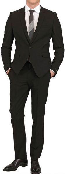 Givenchy One Button Stretch Cool Wool Suit in Black for Men