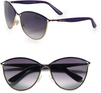 Jimmy Choo Tanis Round Metal Sunglasses - Lyst