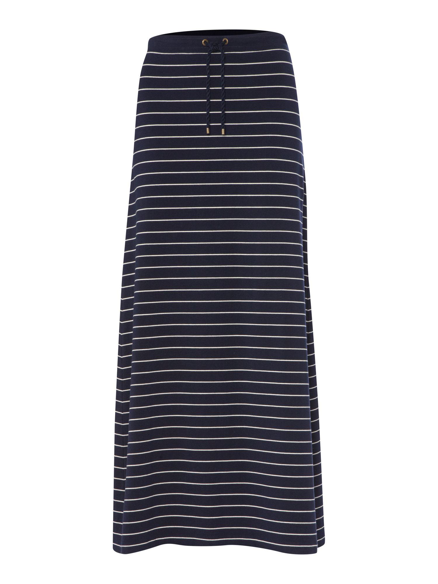 Lauren by ralph lauren Striped Maxi Skirt with Drawstring ...