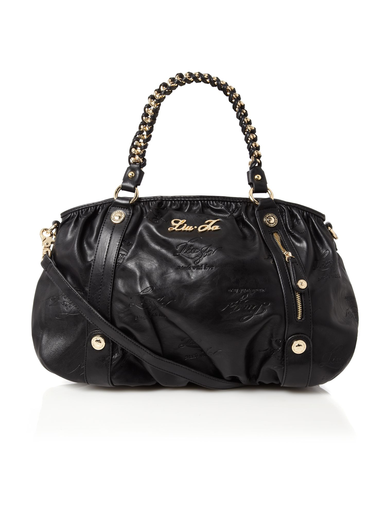 Liu Jo Large Tote Bag In Black Lyst