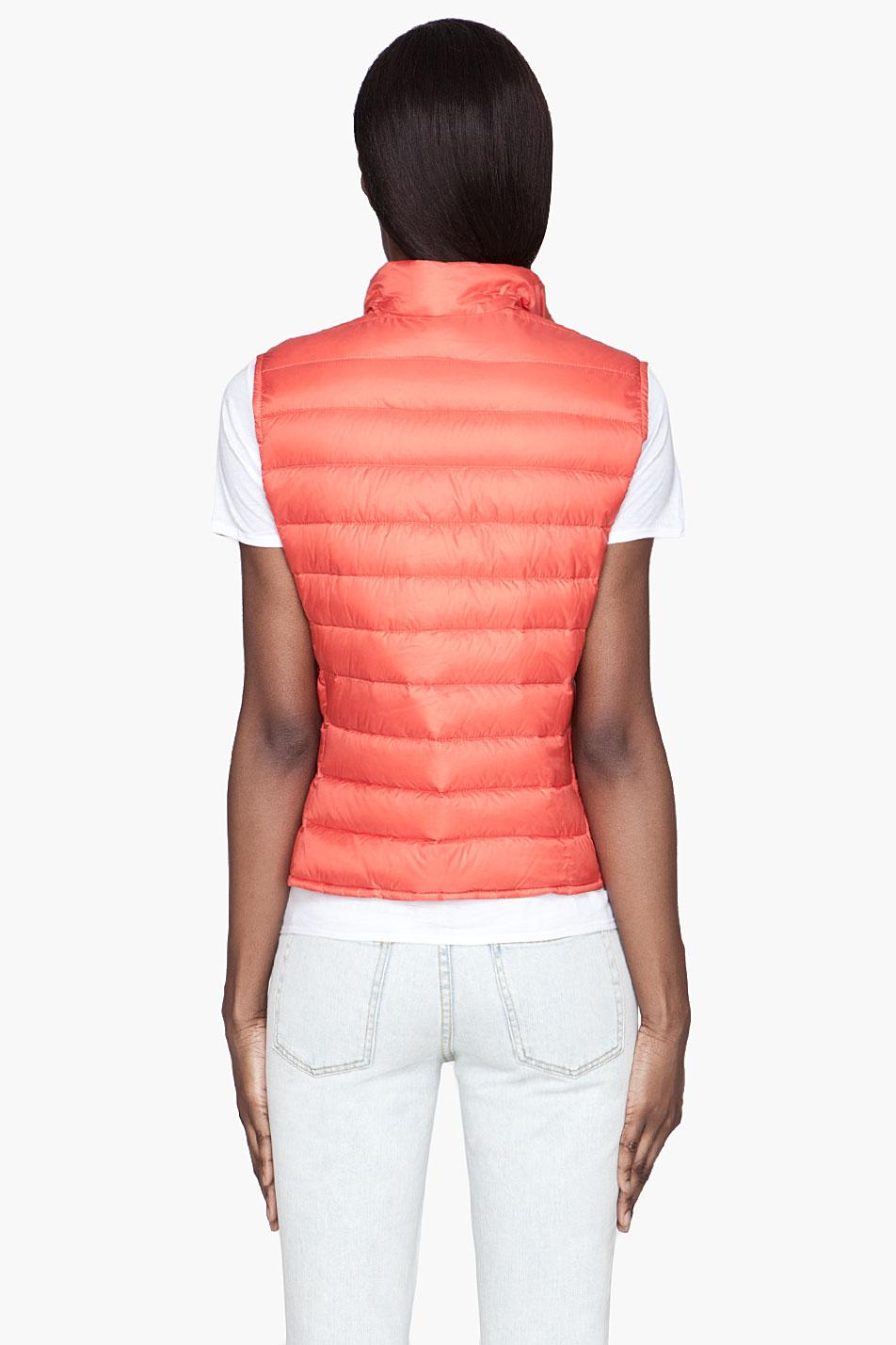 moncler orange vest