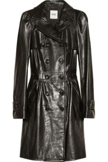 Moschino Cheap & Chic Textured Leather Trench Coat - Lyst