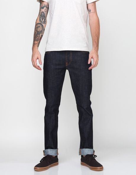 Nudie Jeans Thin Finn Organic Dry Twill Jeans in Blue for Men (denim)