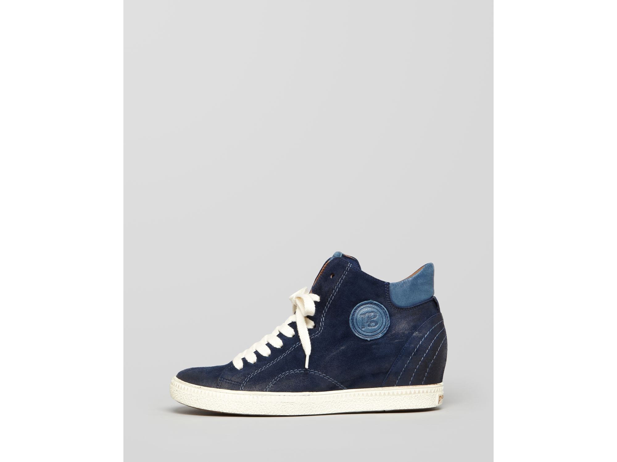 paul green sneakers palma high top zipper in blue lyst. Black Bedroom Furniture Sets. Home Design Ideas