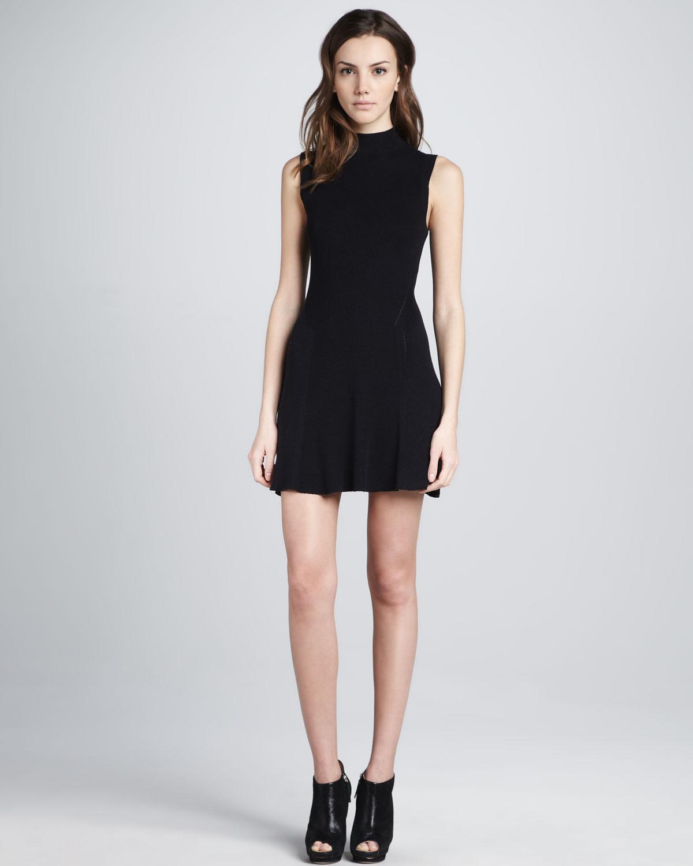 Theyskens Theory Kinda Sleeveless Sweater Dress In Black
